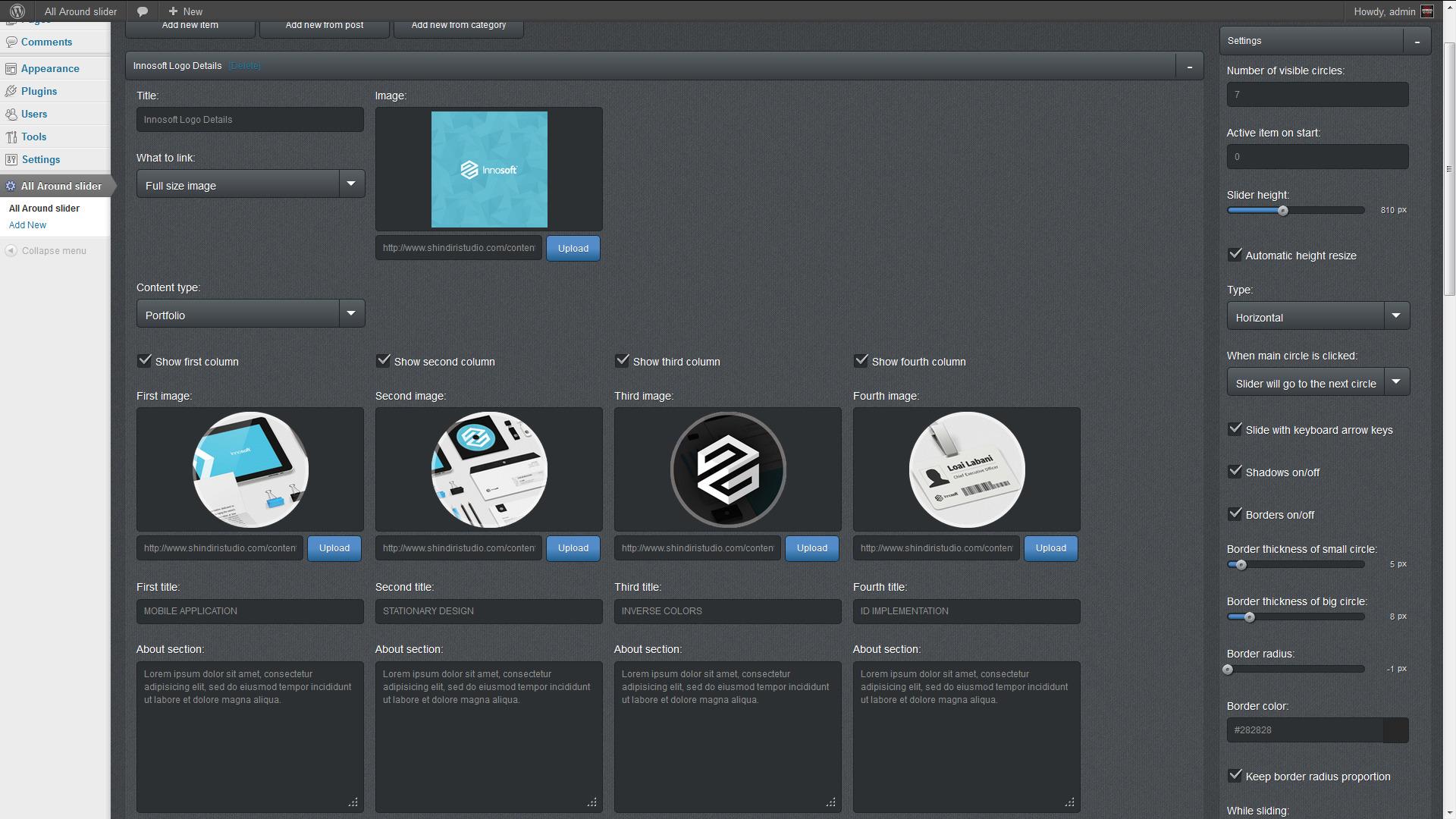 All Around - WordPress Plugin Content Slider Carousel