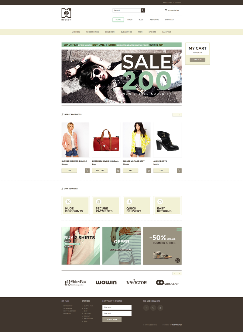 Hudson multipurpose woocommerce theme WordPress